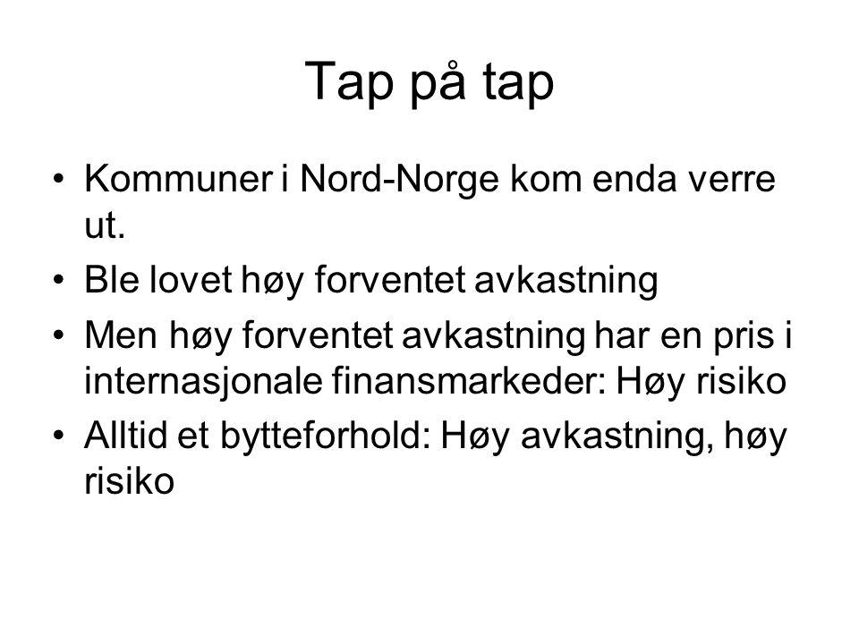 Tap på tap Kommuner i Nord-Norge kom enda verre ut.