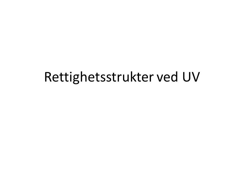 Rettighetsstrukter ved UV
