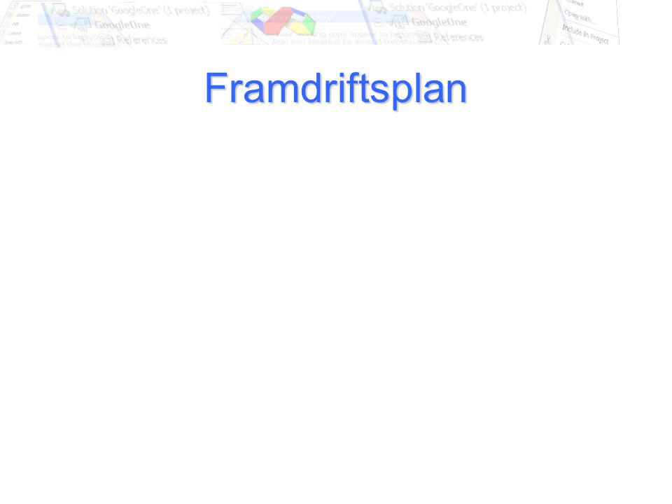 Framdriftsplan