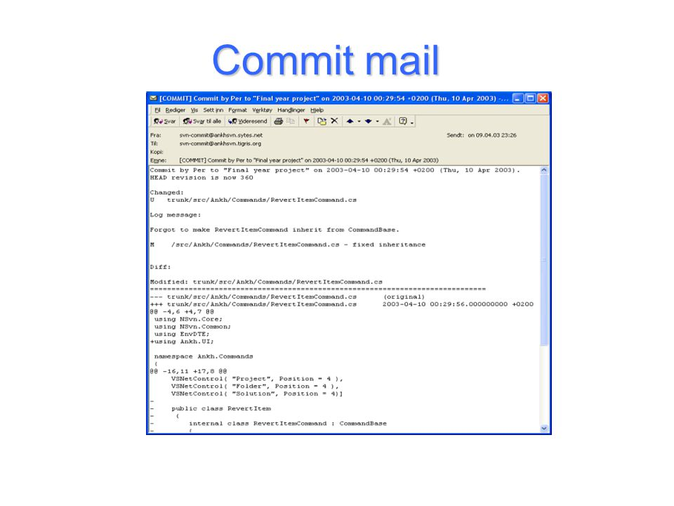Commit mail