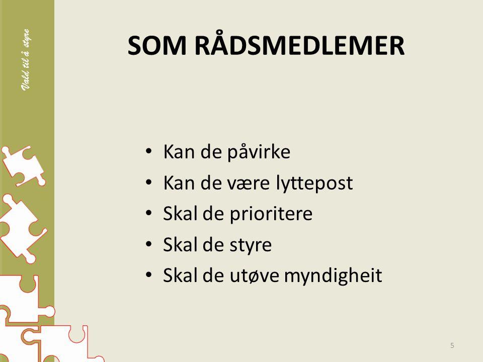 TO ORGAN I SOKNET 6 Sokneråd (SR) Ansvar for strategisk utvikling av kyrkjelyden.