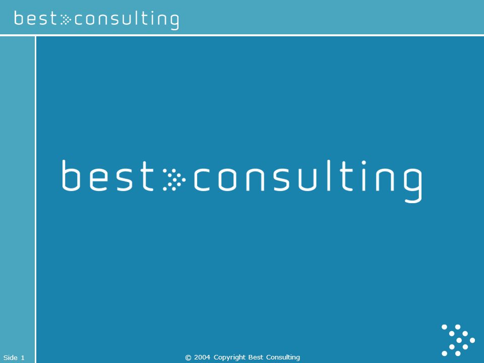 Side 1 © 2004 Copyright Best Consulting