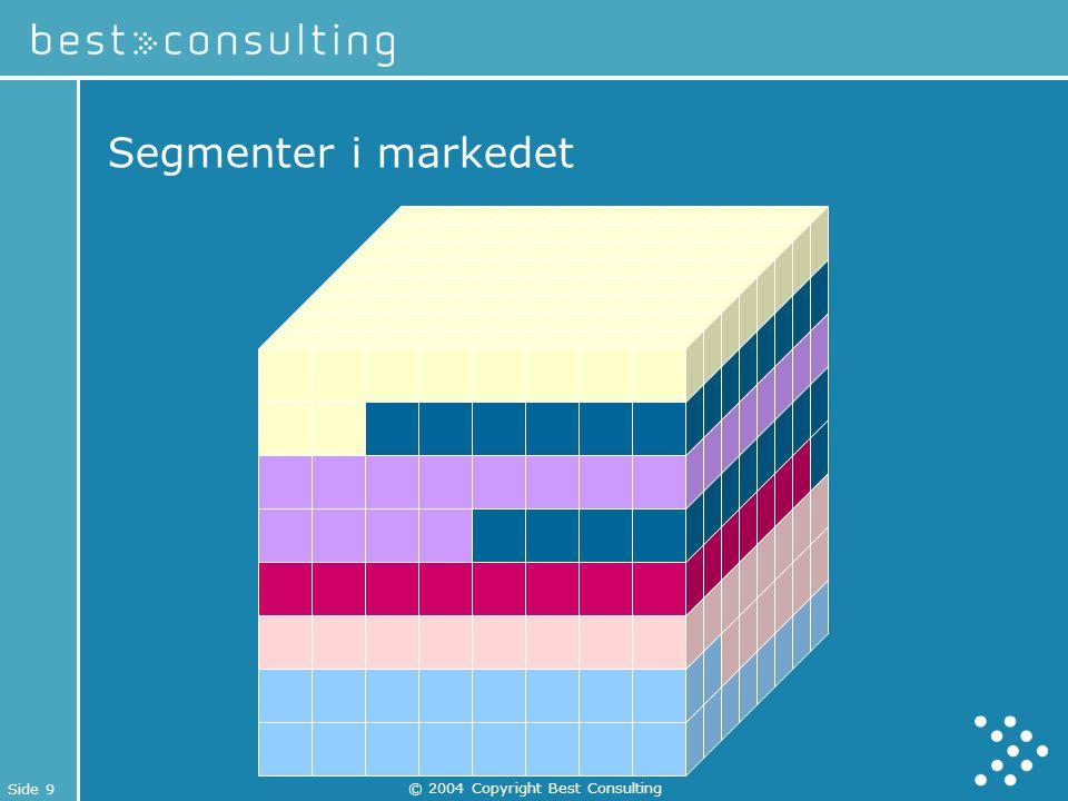 Side 9 © 2004 Copyright Best Consulting Segmenter i markedet