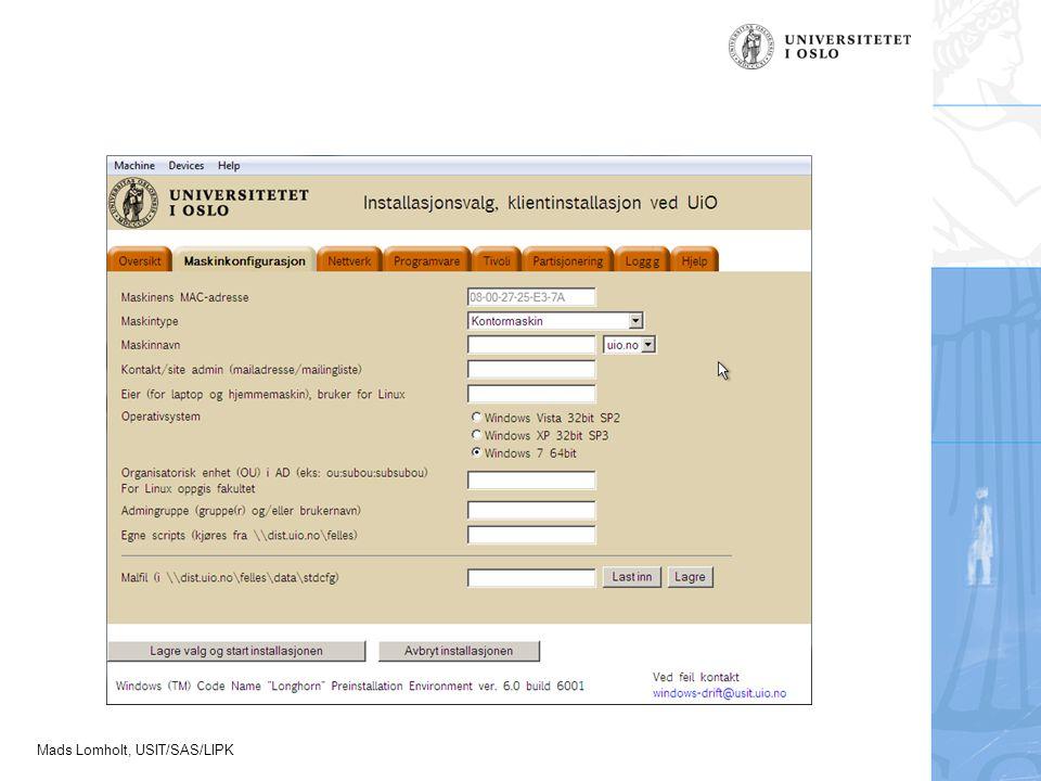 Mads Lomholt, USIT/SAS/LIPK