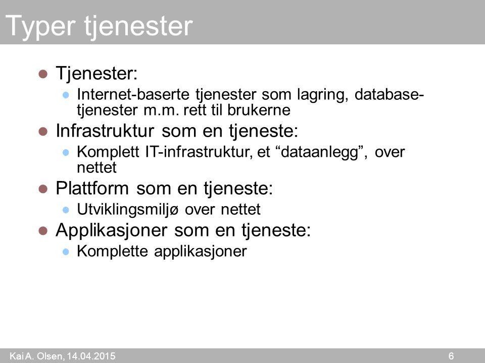Kai A. Olsen, 14.04.2015 7 14.04.2015MS kap 67 I dag (fra IEEE Computer)