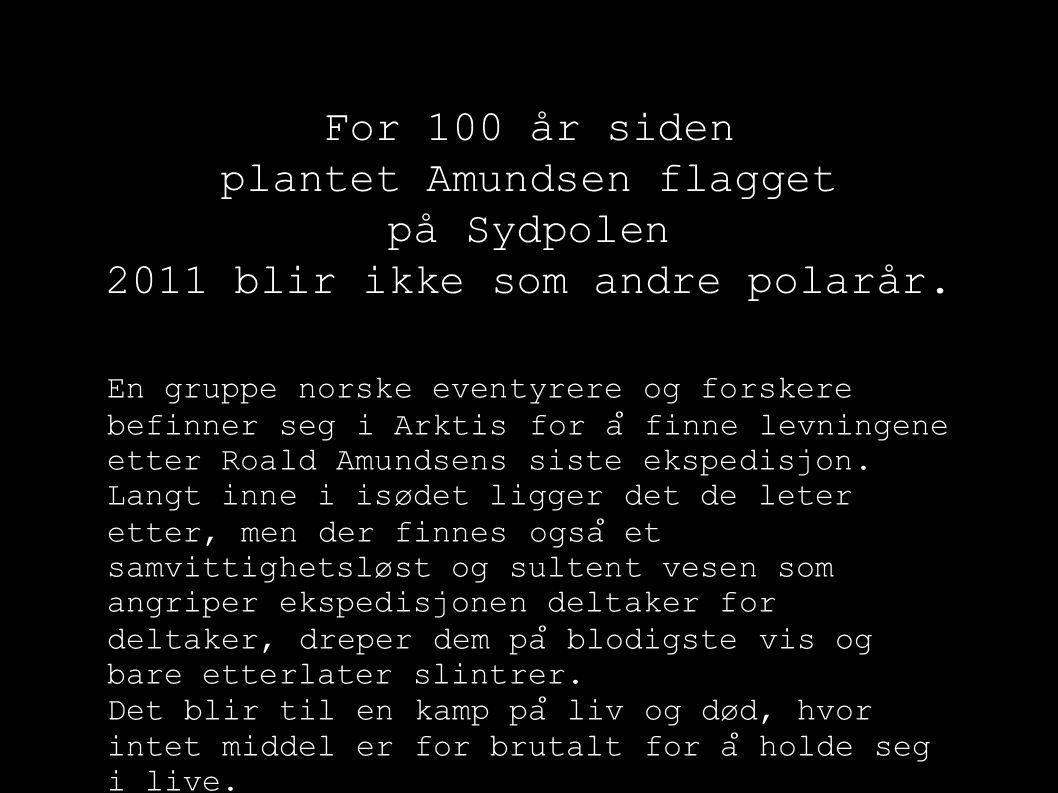 For 100 år siden plantet Amundsen flagget på Sydpolen 2011 blir ikke som andre polarår. En gruppe norske eventyrere og forskere befinner seg i Arktis