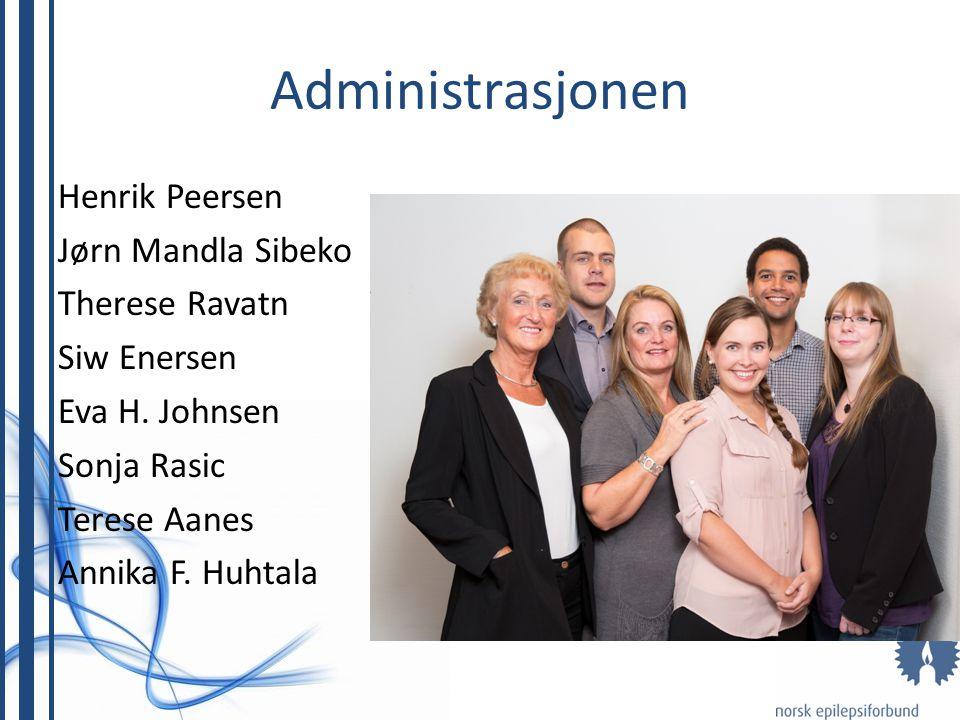 Administrasjonen Henrik Peersen Jørn Mandla Sibeko Therese Ravatn Siw Enersen Eva H. Johnsen Sonja Rasic Terese Aanes Annika F. Huhtala