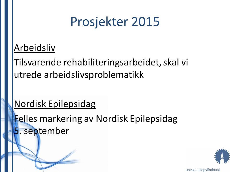 Arbeidsliv Tilsvarende rehabiliteringsarbeidet, skal vi utrede arbeidslivsproblematikk Nordisk Epilepsidag Felles markering av Nordisk Epilepsidag 5.