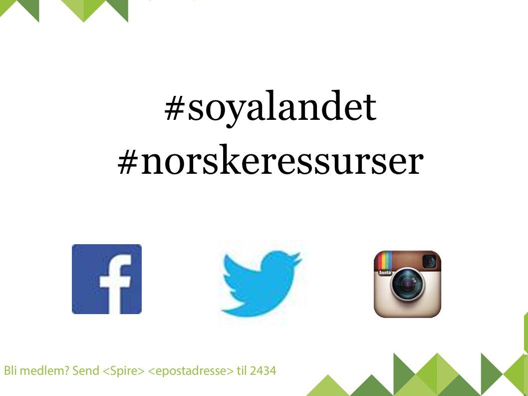 #soyalandet #norskeressurser