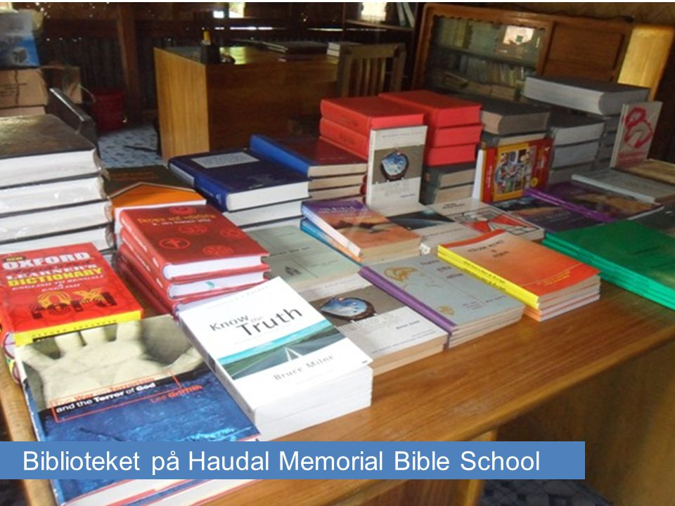 Biblioteket på Haudal Memorial Bible School