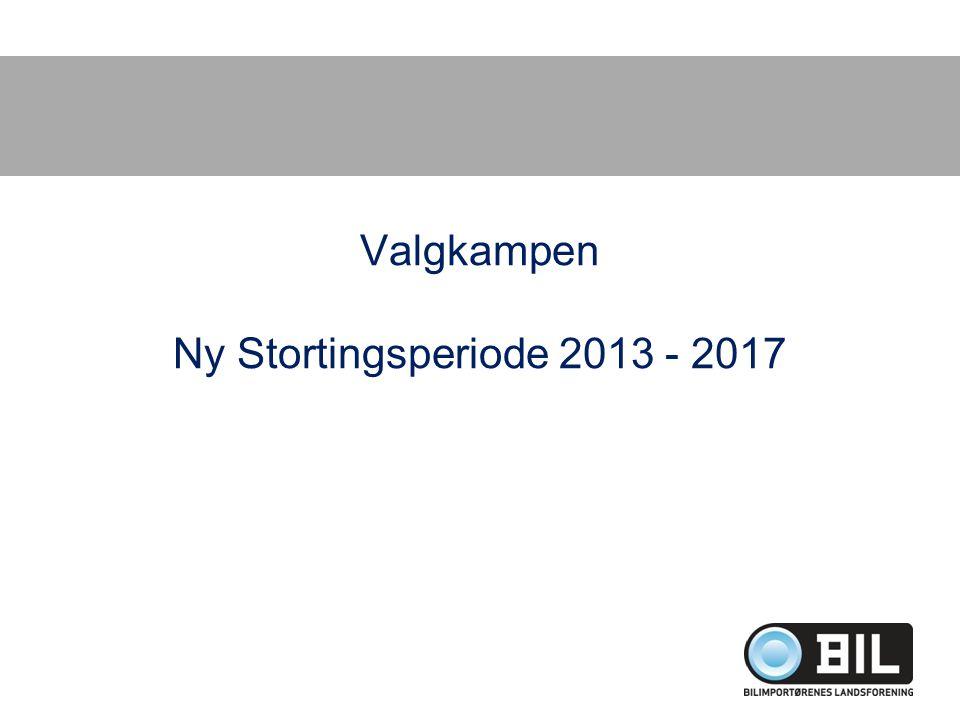 Valgkampen Ny Stortingsperiode 2013 - 2017