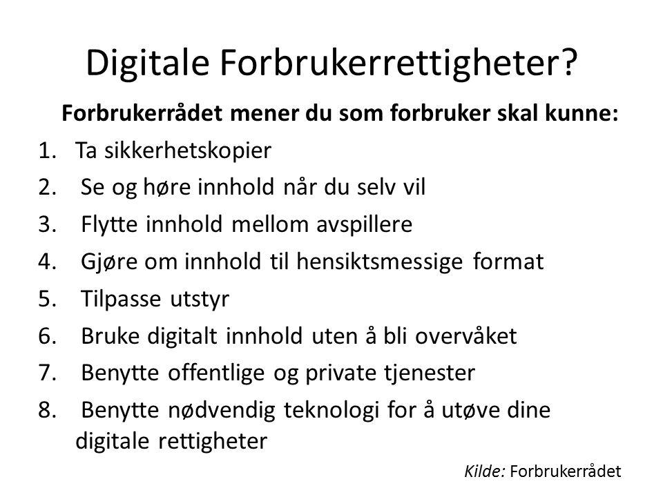 Digitale Forbrukerrettigheter.