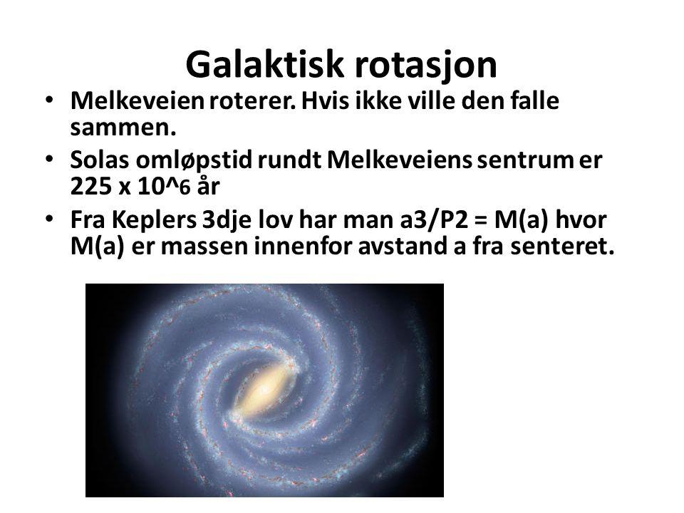 Galaktisk rotasjon Melkeveien roterer.Hvis ikke ville den falle sammen.