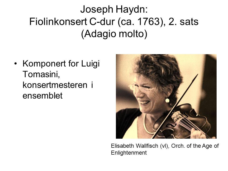 Joseph Haydn: Fiolinkonsert C-dur (ca. 1763), 2.