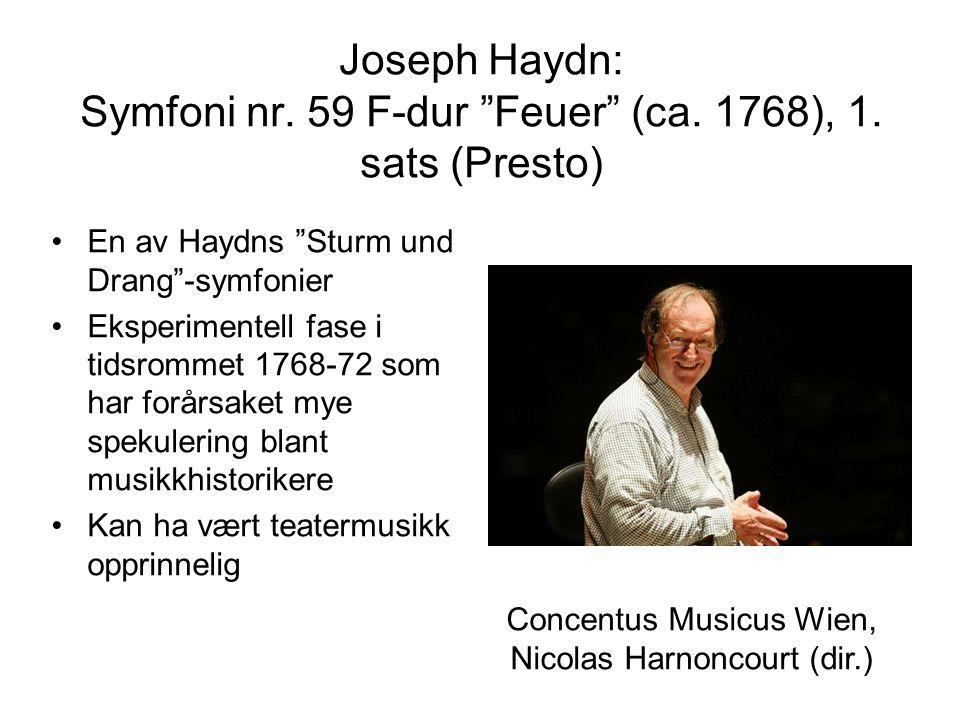 Joseph Haydn: Symfoni nr. 59 F-dur Feuer (ca. 1768), 1.
