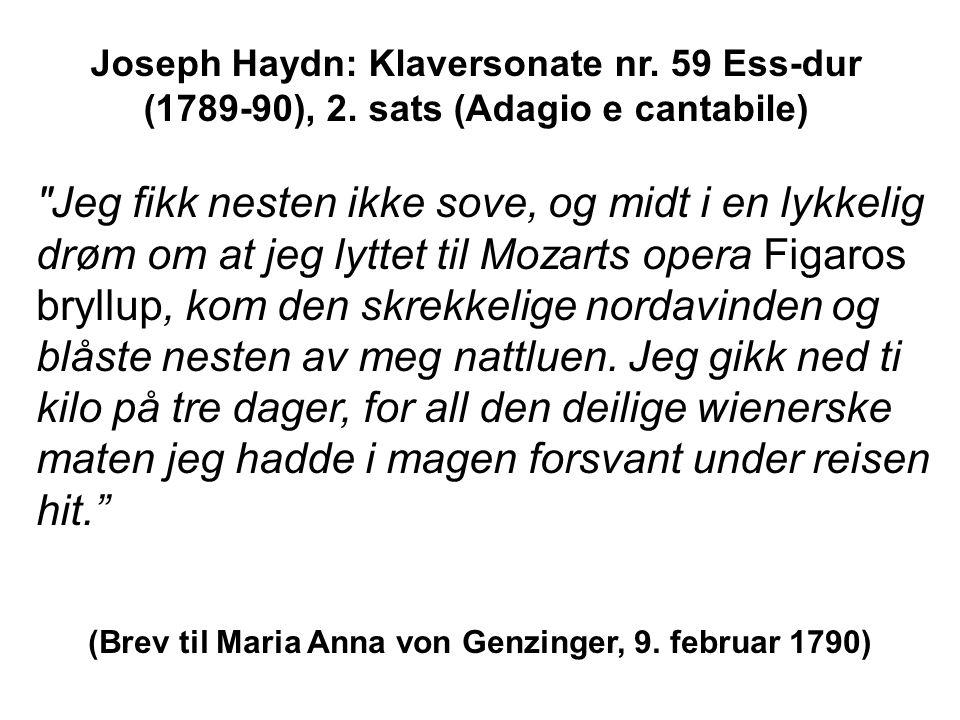 Jeg fikk nesten ikke sove, og midt i en lykkelig drøm om at jeg lyttet til Mozarts opera Figaros bryllup, kom den skrekkelige nordavinden og blåste nesten av meg nattluen.