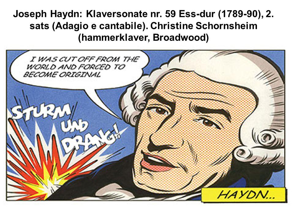 Joseph Haydn: Klaversonate nr. 59 Ess-dur (1789-90), 2.