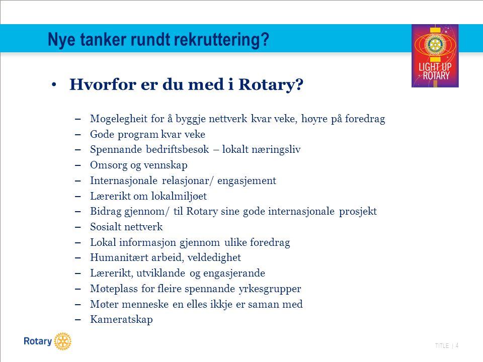 TITLE | 4 Nye tanker rundt rekruttering. Hvorfor er du med i Rotary.