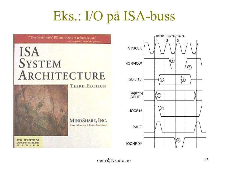 ogm@fys.uio.no 13 Eks.: I/O på ISA-buss