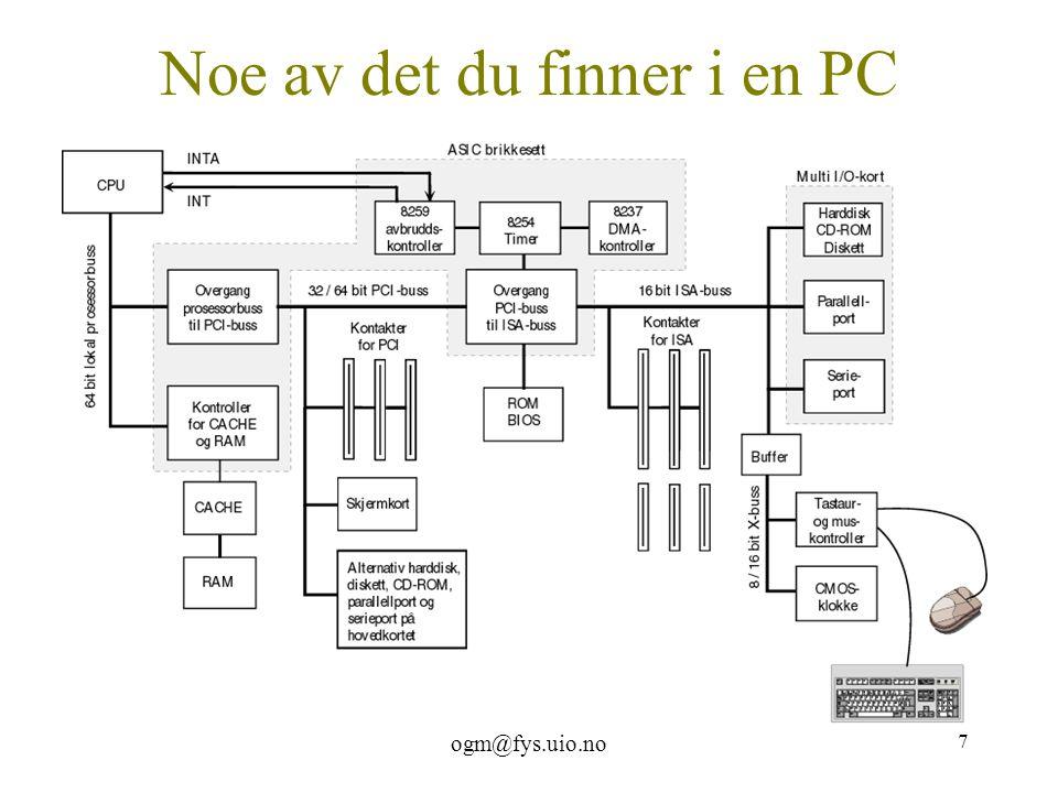 ogm@fys.uio.no 7 Noe av det du finner i en PC