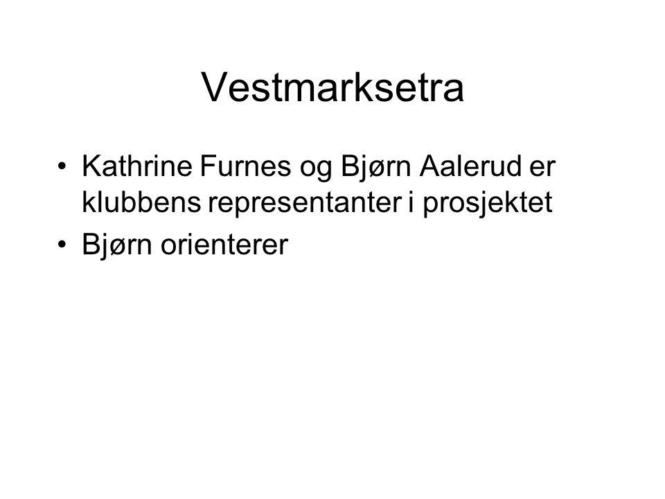 Vestmarksetra Kathrine Furnes og Bjørn Aalerud er klubbens representanter i prosjektet Bjørn orienterer
