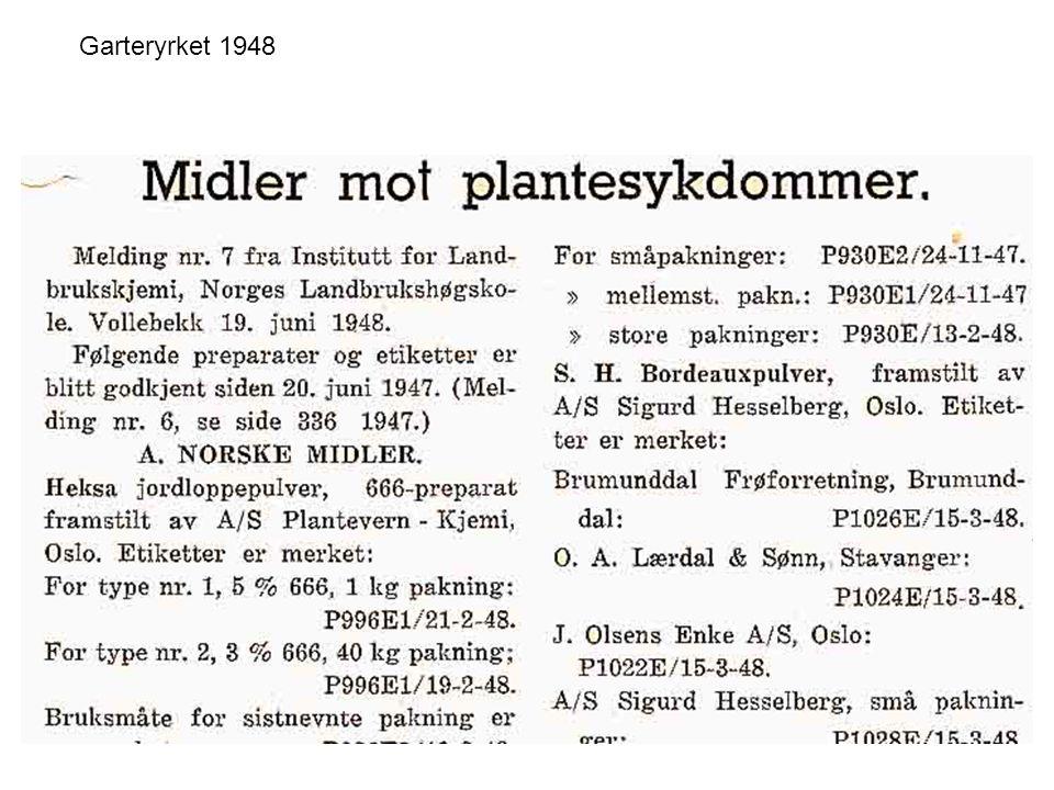 Ugrasmidler Fotosyntesehemmere (Hvor virker de i plantene?) –Triaziner (atrazin, simazin) –Ureaderivater (linuron, diuron) Avkoplere –Sure fenoler (dinoseb, ioksynil, DNOC, 2,4-dinitrofenol, pentaklorfenol) Hemmere av aminosyresyntese –Glyfosat (NB.