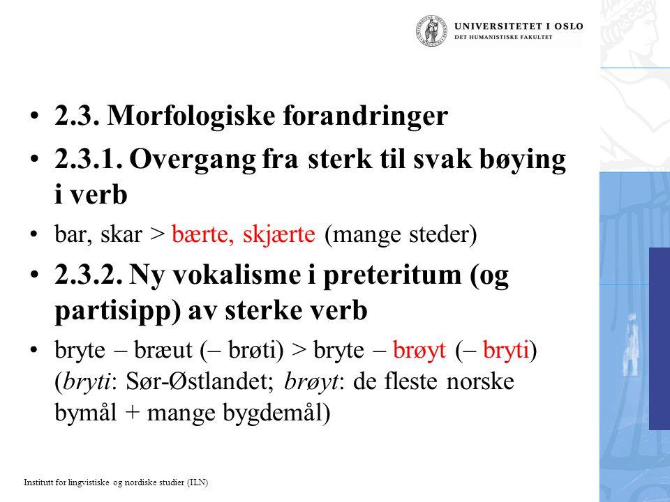Institutt for lingvistiske og nordiske studier (ILN) 2.3.