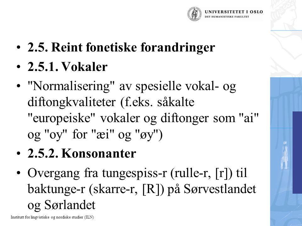 Institutt for lingvistiske og nordiske studier (ILN) 2.5.
