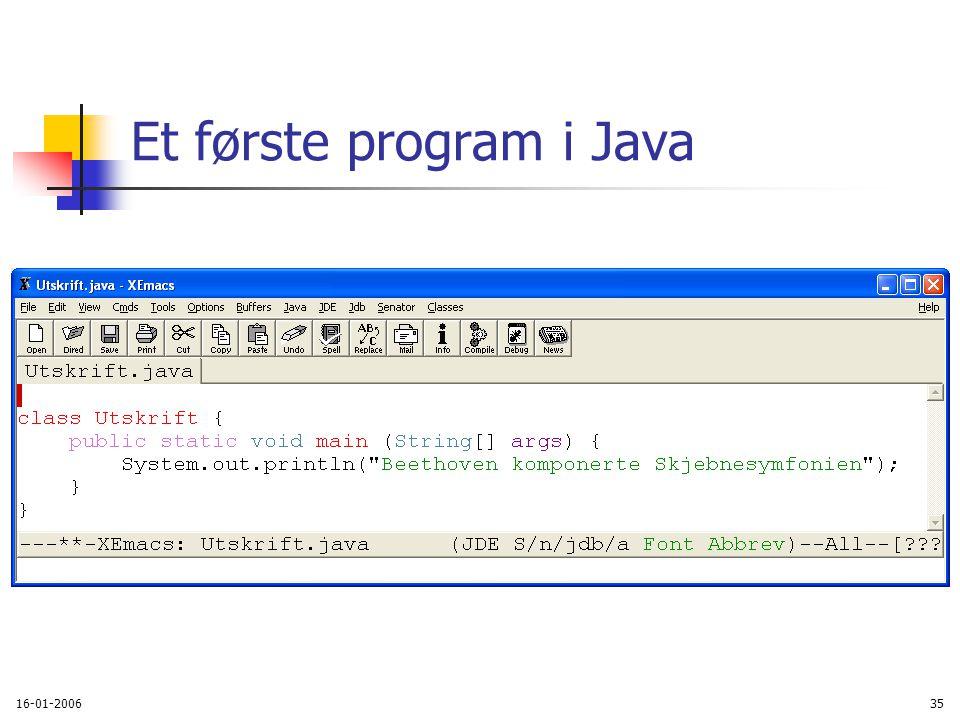 16-01-200635 Et første program i Java