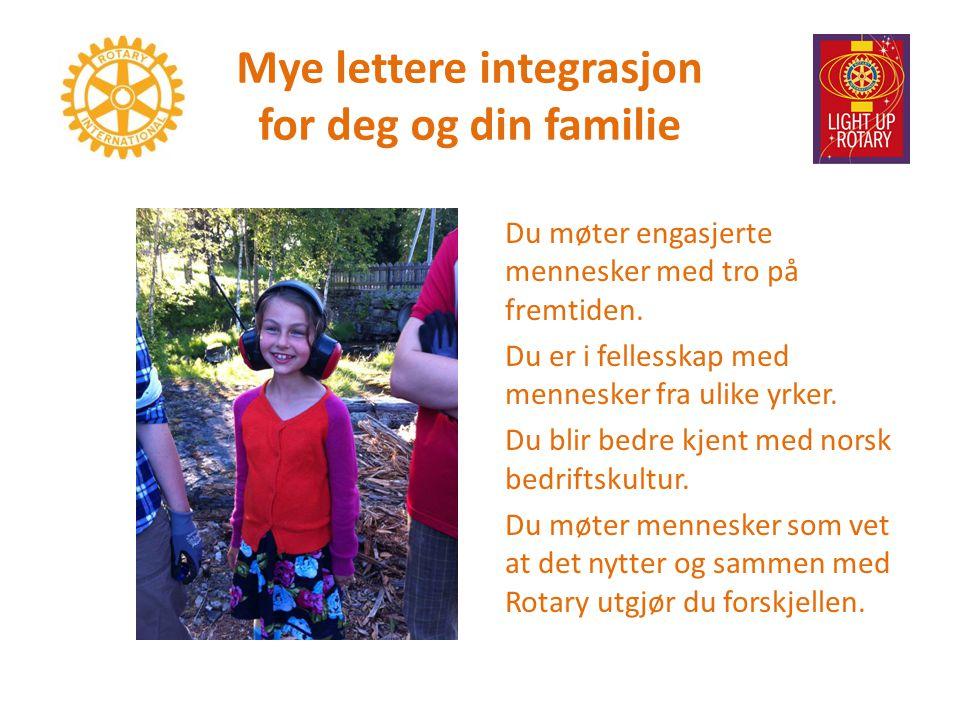 Mye lettere integrasjon for deg og din familie Du møter engasjerte mennesker med tro på fremtiden.