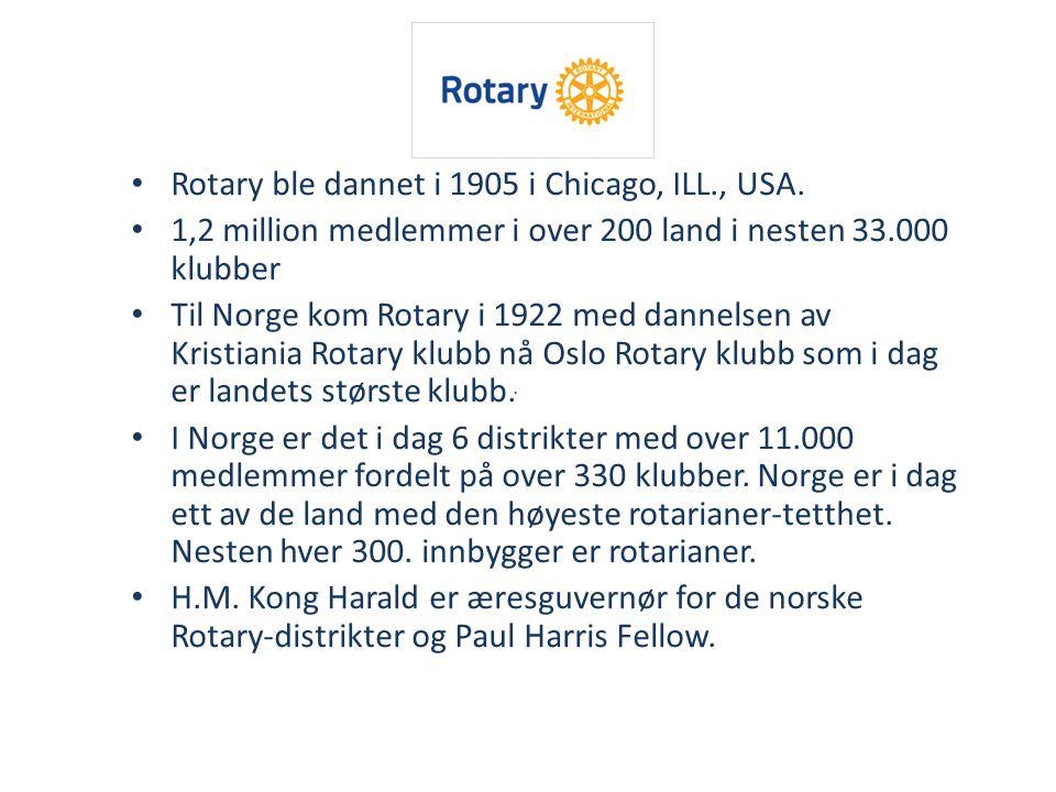 Rotary ledes av en årlig valgt president Rotary International President 2014/15 Gary C.
