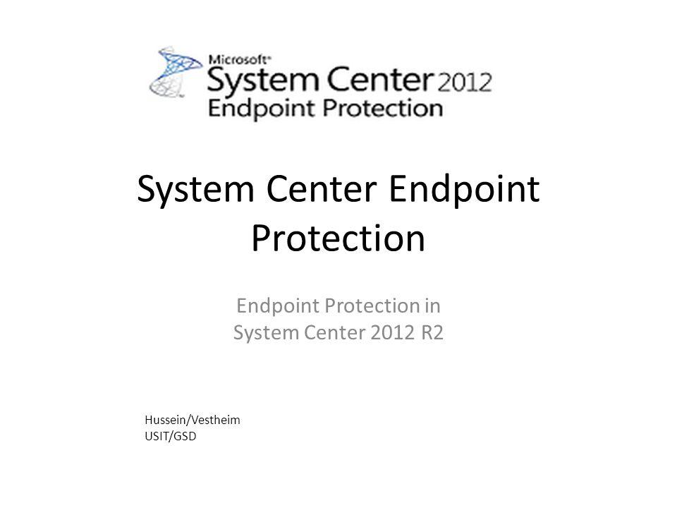 SCCM/SCEP SCEP (Antivirus) Antimalware Policy Konfigurasjonsstyring (Baselines) /GPO Rapportering