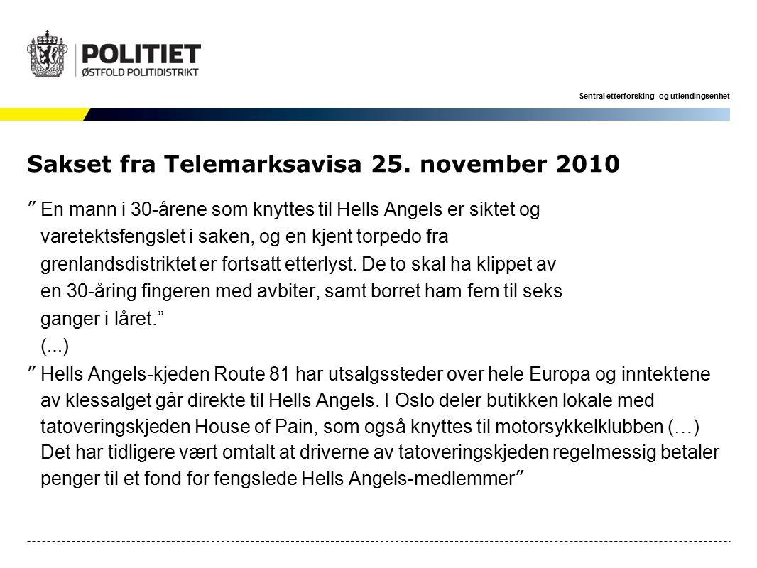 Sentral etterforsking- og utlendingsenhet Sakset fra Telemarksavisa 25.
