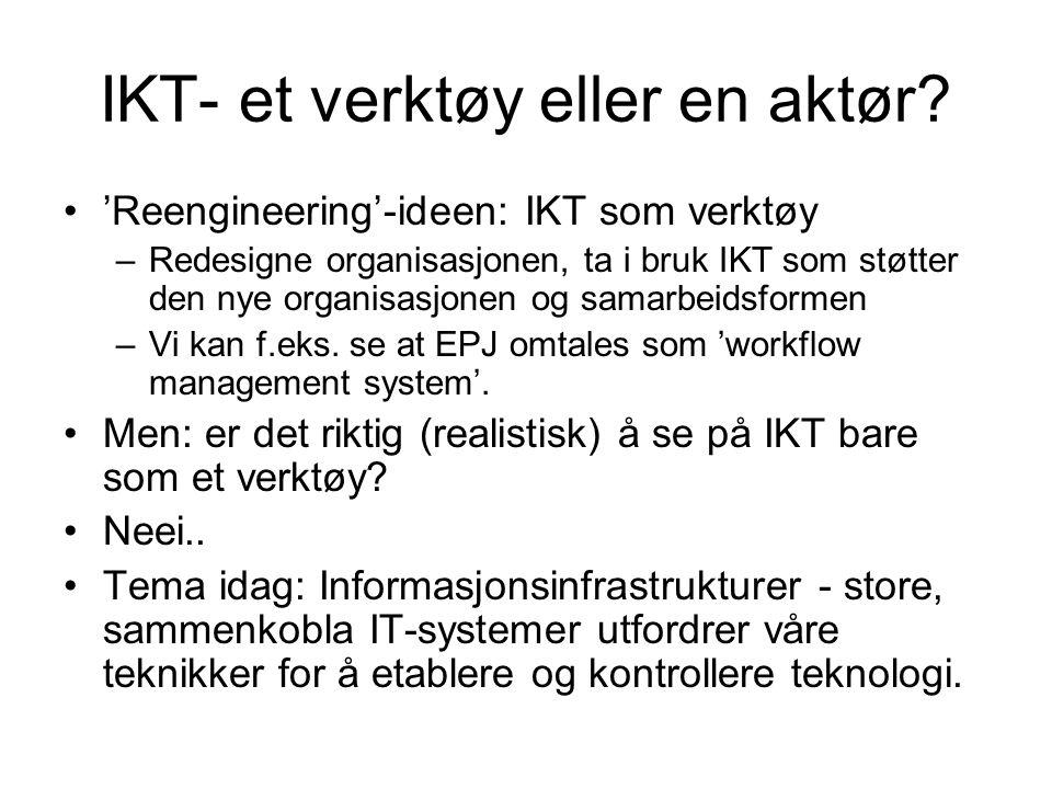 IKT- et verktøy eller en aktør.
