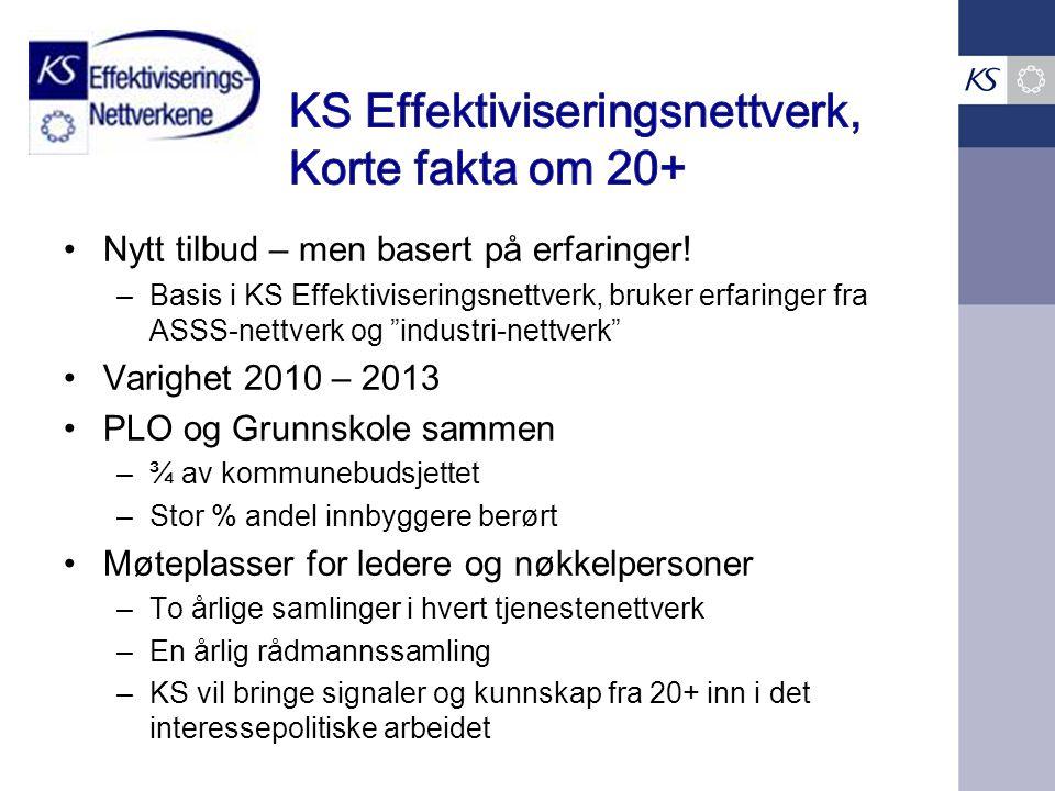 """Nytt tilbud – men basert på erfaringer! –Basis i KS Effektiviseringsnettverk, bruker erfaringer fra ASSS-nettverk og """"industri-nettverk"""" Varighet 2010"""