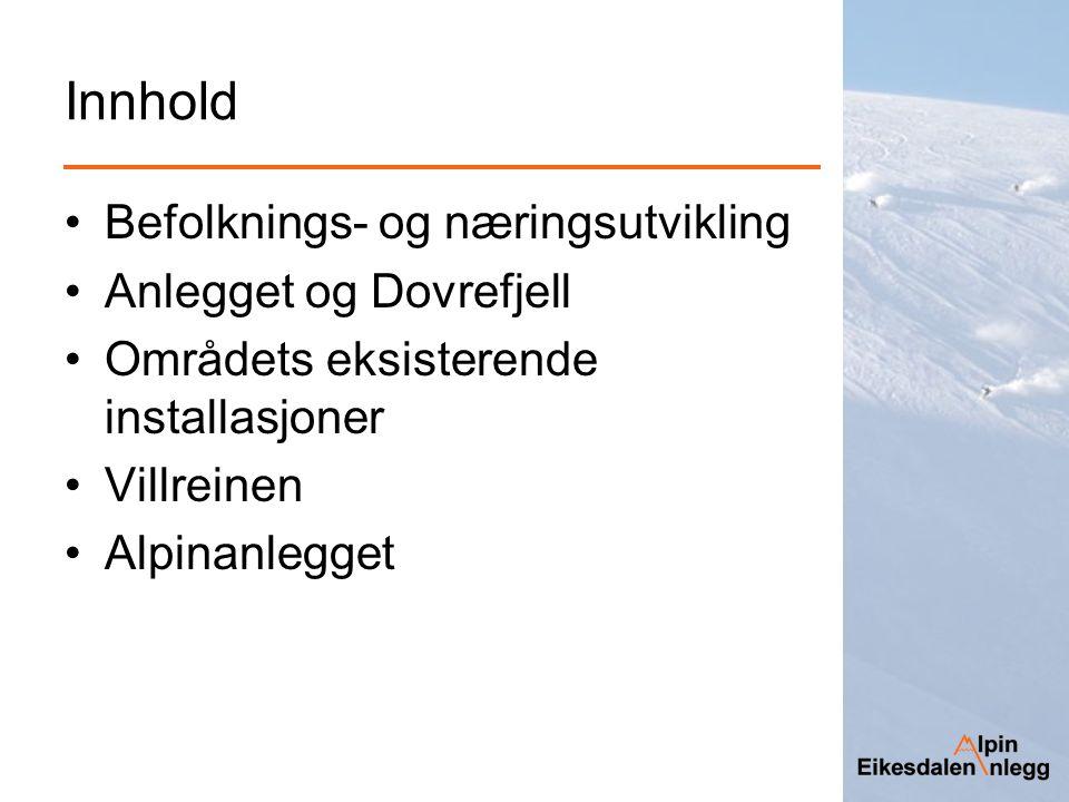 Villreinen - Bestanden I driftsplanen for Snøhetta villreinområde er målet å ha en vinterbestand på til sammen 2.300 dyr.