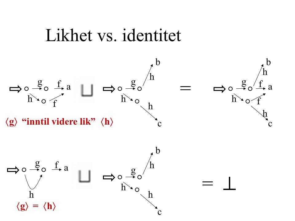 Likhet vs.