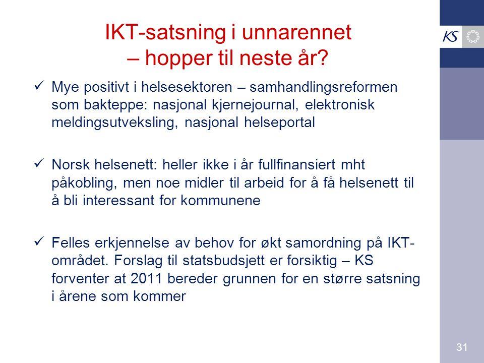 31 IKT-satsning i unnarennet – hopper til neste år.