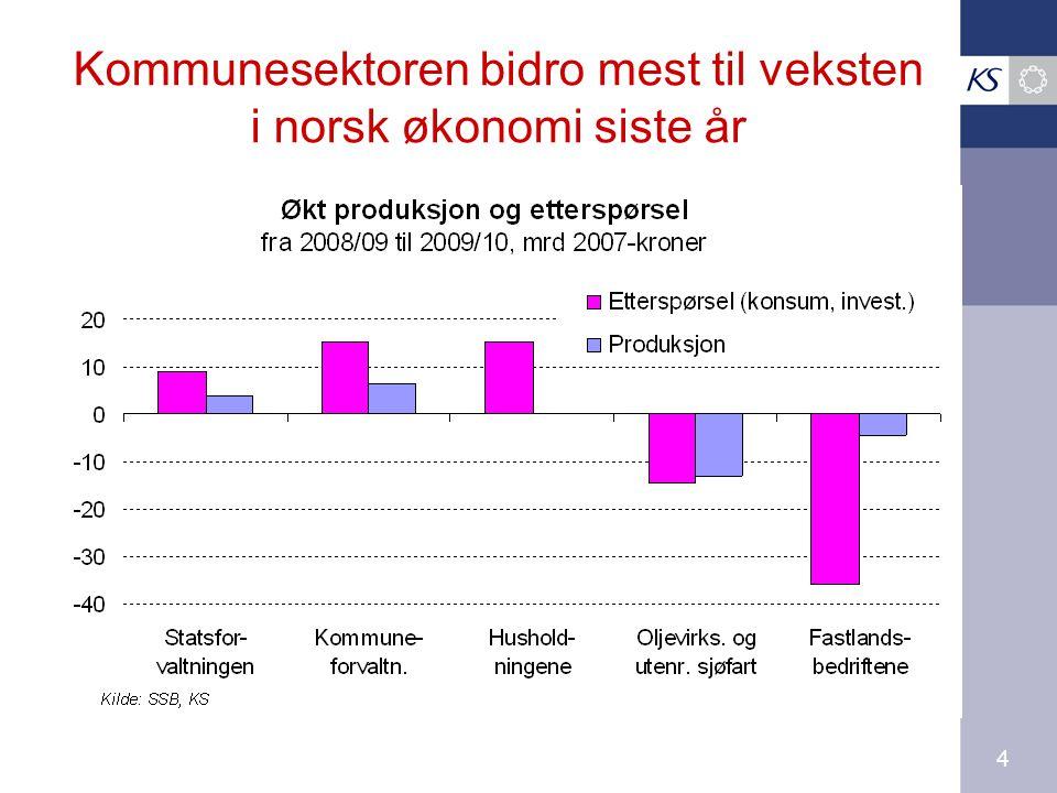 4 Kommunesektoren bidro mest til veksten i norsk økonomi siste år
