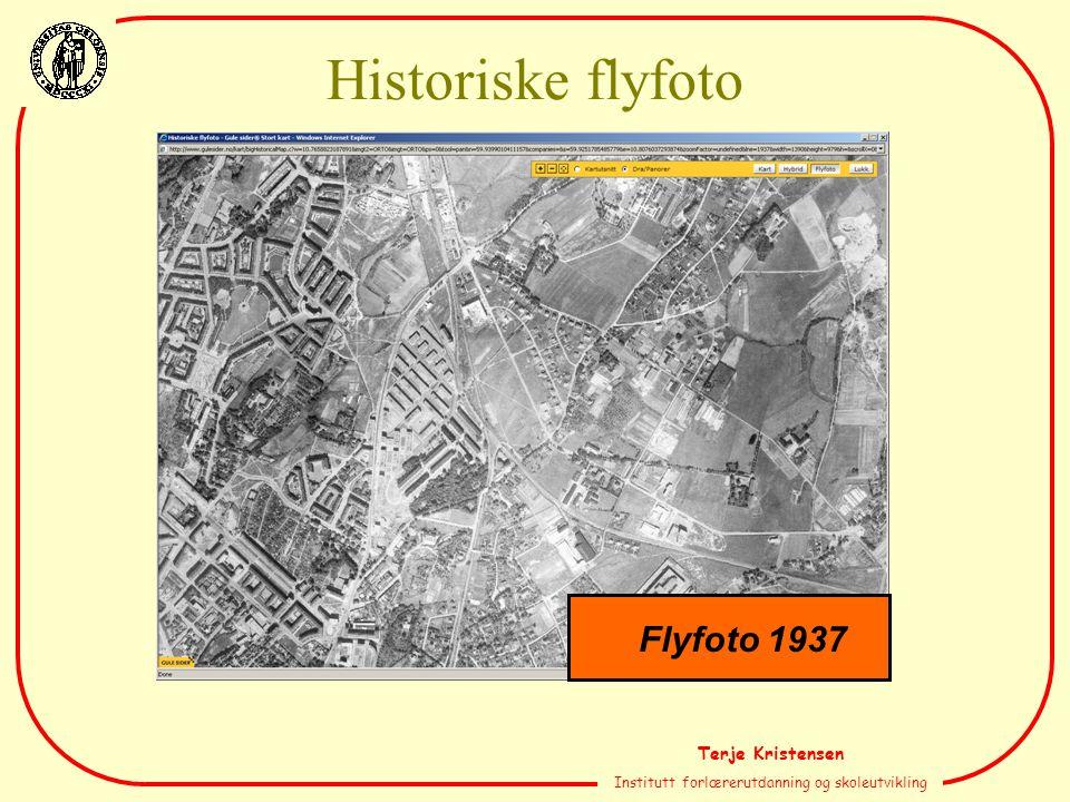 Terje Kristensen Institutt forlærerutdanning og skoleutvikling Flyfoto 1937 Historiske flyfoto