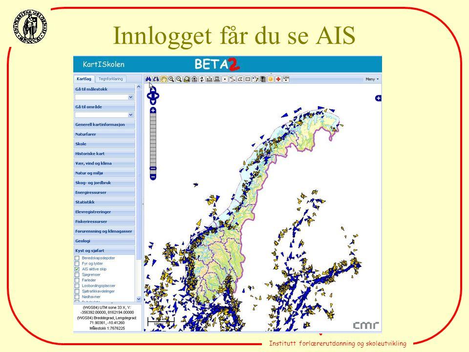 Terje Kristensen Institutt forlærerutdanning og skoleutvikling Innlogget får du se AIS