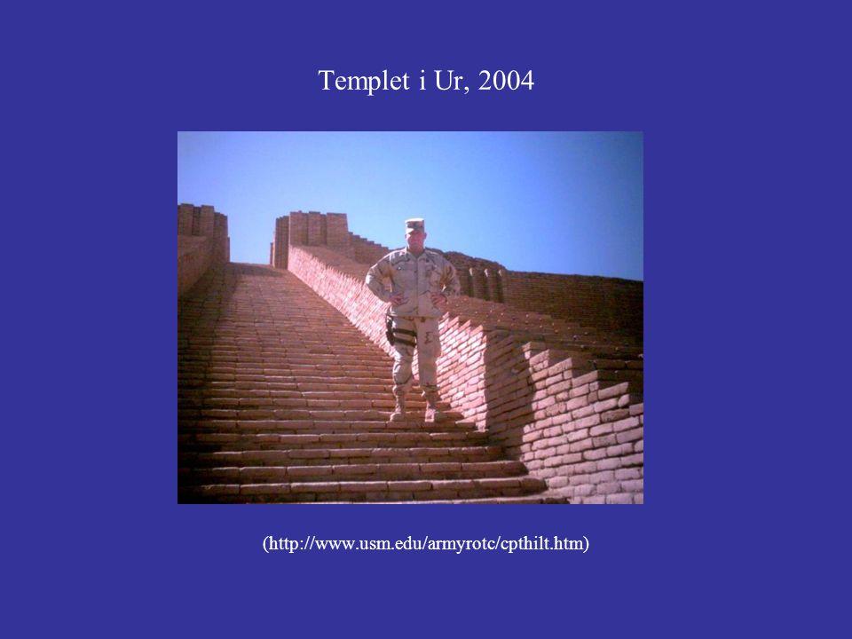 Templet i Ur, 2004 (http://www.usm.edu/armyrotc/cpthilt.htm)