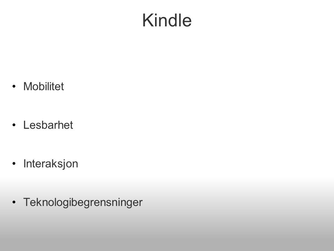 Kindle - mobilitet