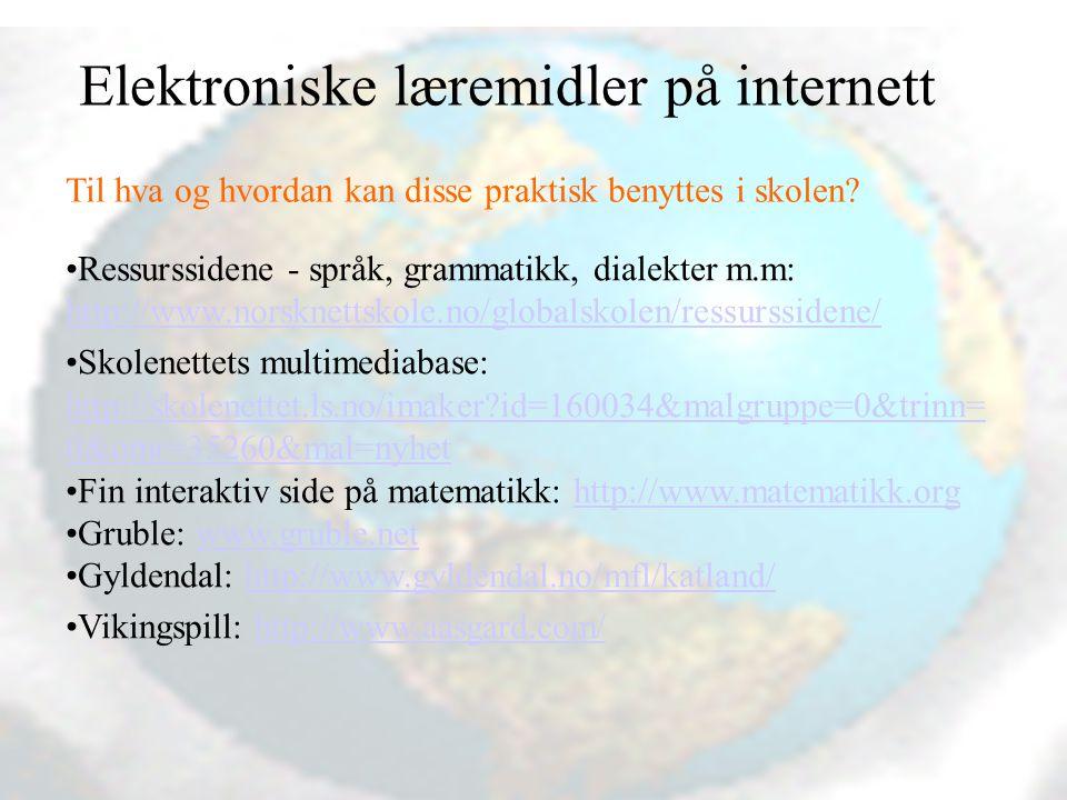 Vibeke Bjarnø, Fagenhet for IKT og mediafag, Avdeling for lærerutdanning Hvor finne ut mer om praktisk bruk av pedagogisk programvare.