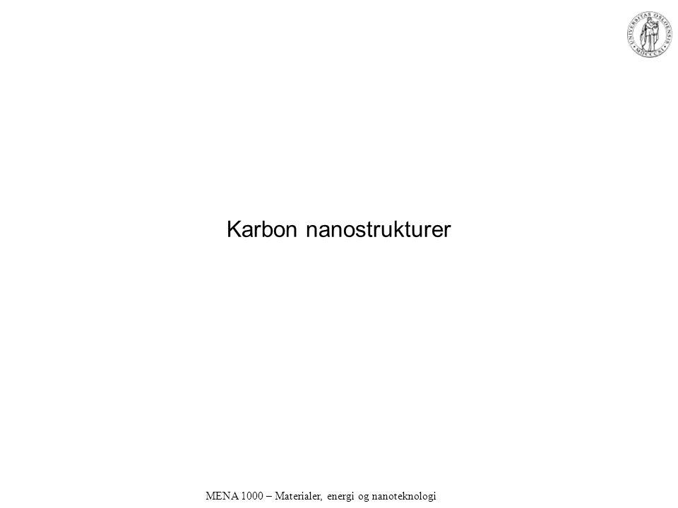 Karbon nanostrukturer MENA 1000 – Materialer, energi og nanoteknologi
