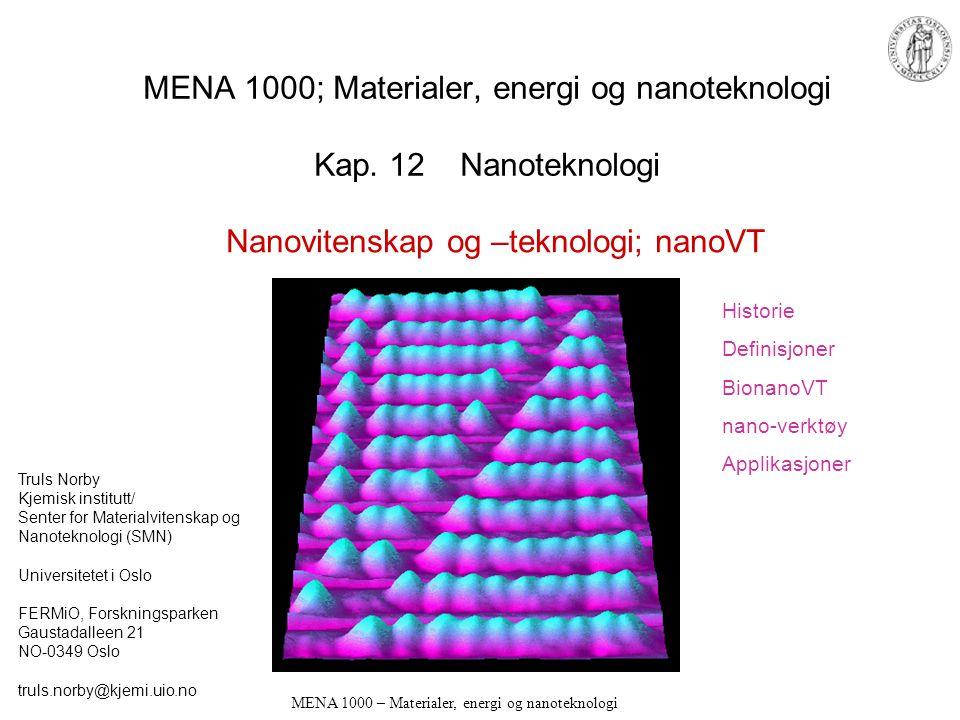 MENA 1000 – Materialer, energi og nanoteknologi MENA 1000; Materialer, energi og nanoteknologi Kap.