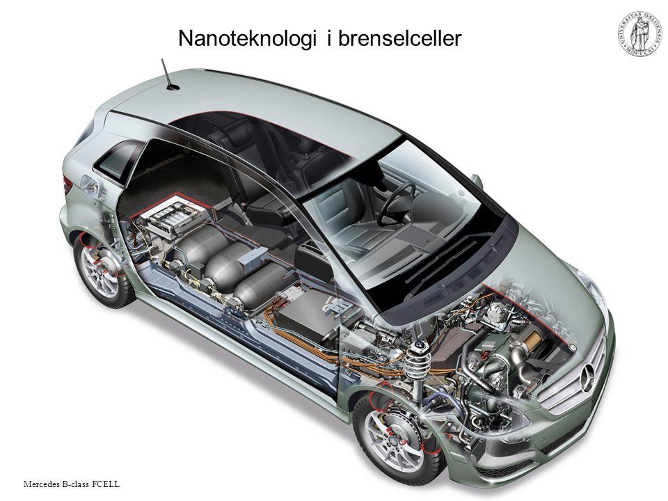 MENA 1000 – Materialer, energi og nanoteknologi Nanoteknologi i brenselceller Mercedes B-class FCELL