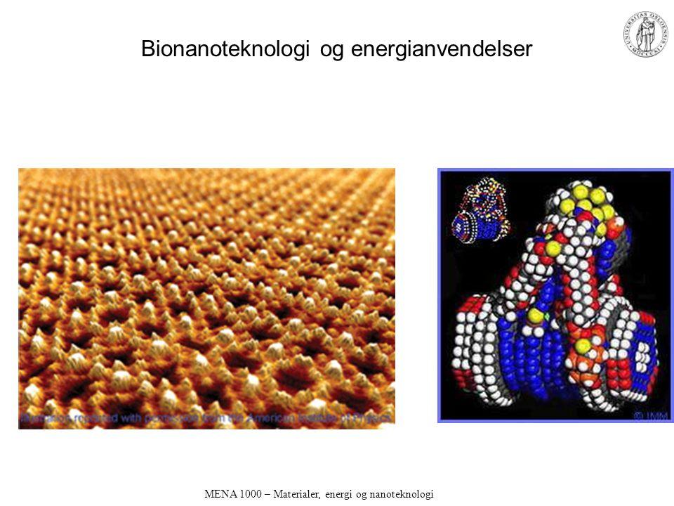MENA 1000 – Materialer, energi og nanoteknologi Bionanoteknologi og energianvendelser