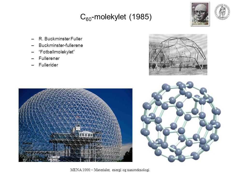 MENA 1000 – Materialer, energi og nanoteknologi C 60 -molekylet (1985) –R.