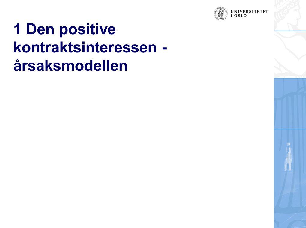 1 Den positive kontraktsinteressen - årsaksmodellen